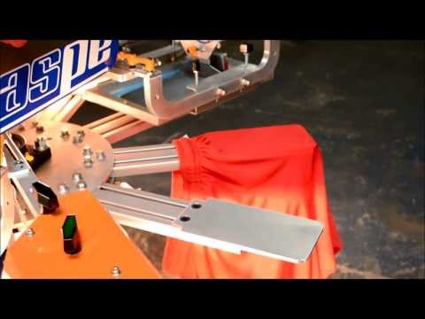 Screen Printing Athletic Wear using the RapidTag LP4 - ASPE's RapidTag