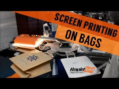 Screen Printing Tote Bags